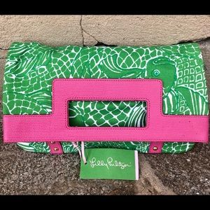 Lilly Pulitzer Foldable Canvas Clutch